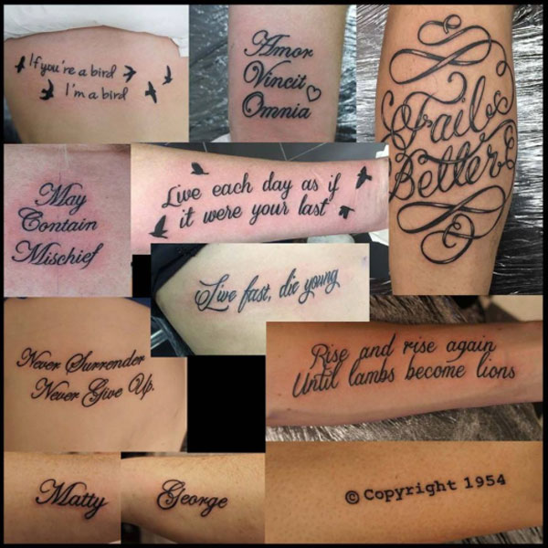 Chris Script Writing Tattoo S